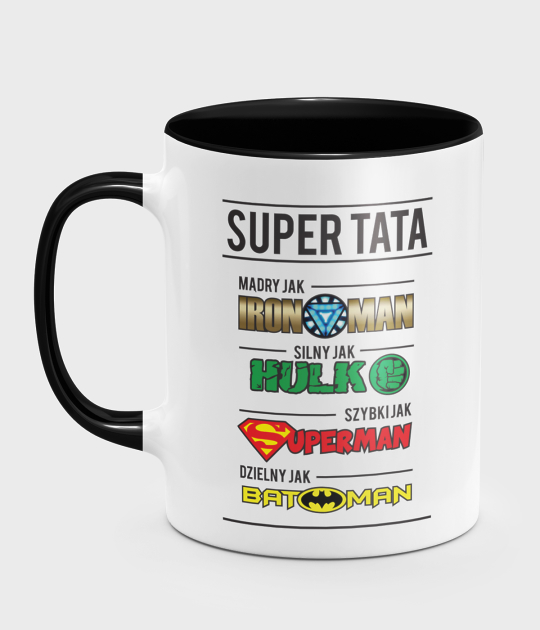 Kubek kolorowy Tata Superbohater