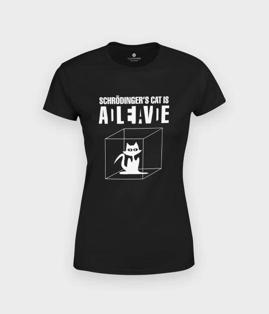 Koszulka damska premium Kot Schrodingera