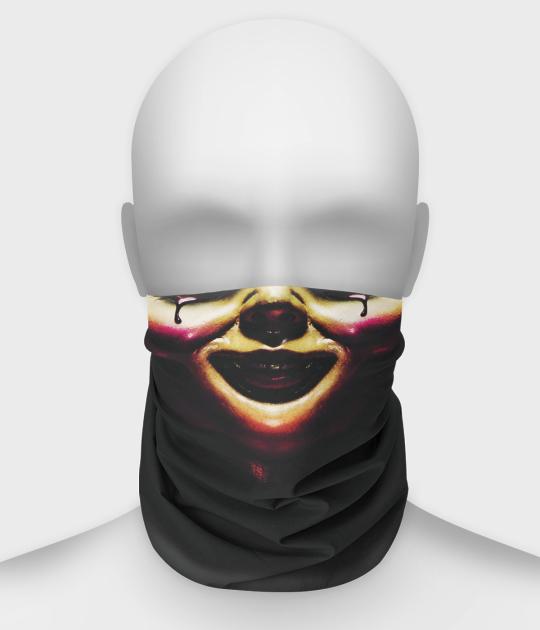 Komin na twarz fullprint z laleczką