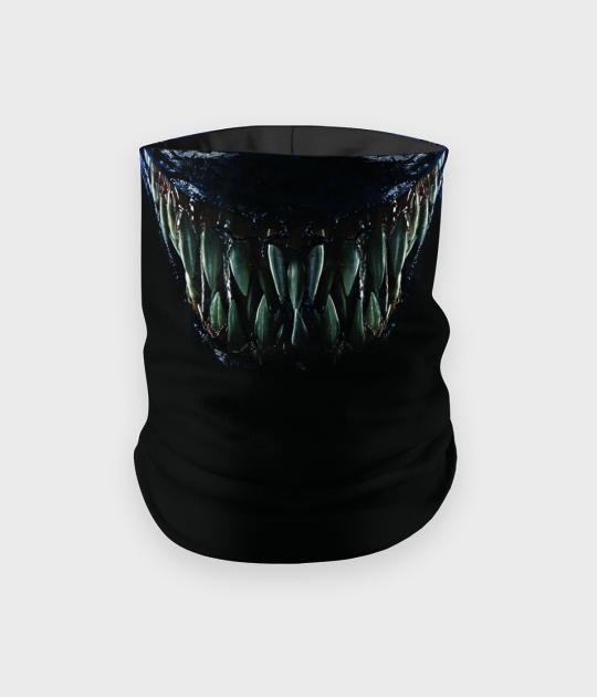 Komin na twarz fullprint z zębami Venoma