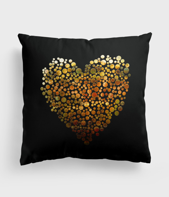 Poduszka full print Golden heart