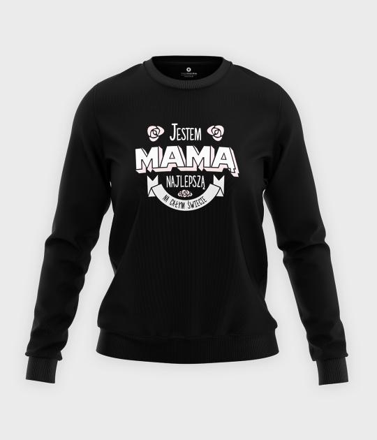 Bluza klasyczna damska Najlepsza mama na całym świecie