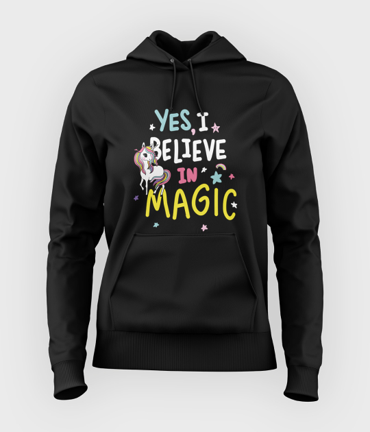 Bluza damska z kapturem Wierzę w magię