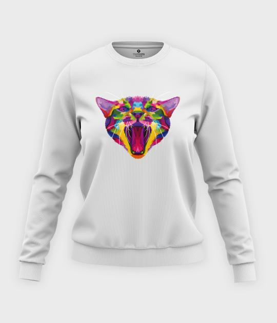 Bluza klasyczna damska Kolorowy kot
