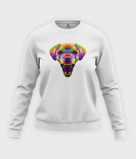 Bluza klasyczna damska Kolorowy pies