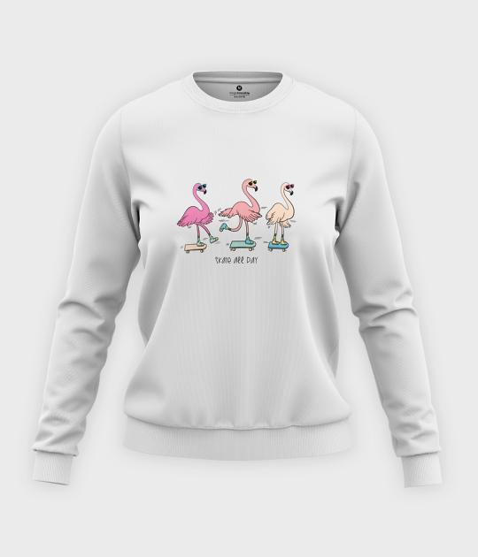 Bluza klasyczna damska Skate Flamingi