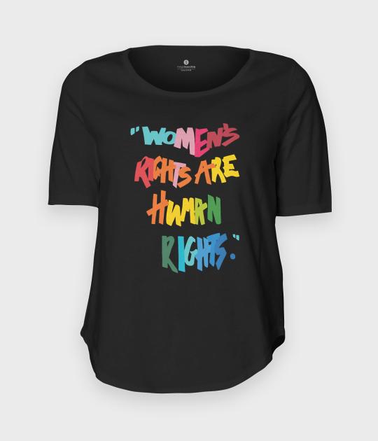 Koszulka damska trzy czwarte Womens rights