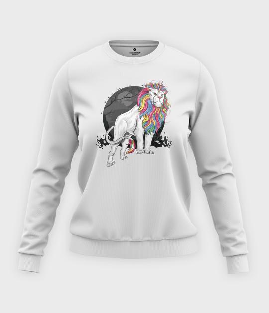 Bluza klasyczna damska Tęczowy lew