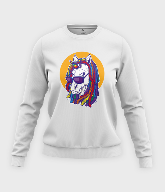 Bluza klasyczna damska Rainbow Unicorn