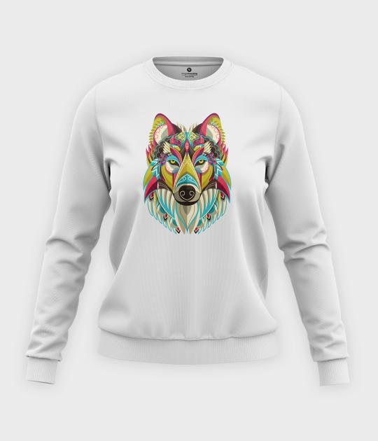 Bluza klasyczna damska Ozdobny wilk