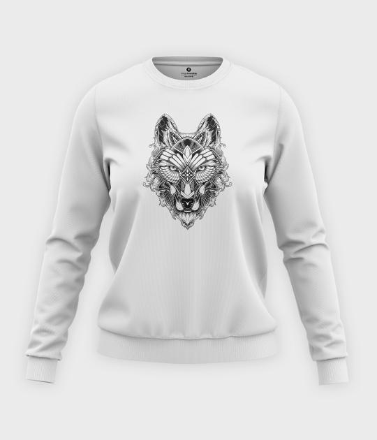 Bluza klasyczna damska Głowa wilka
