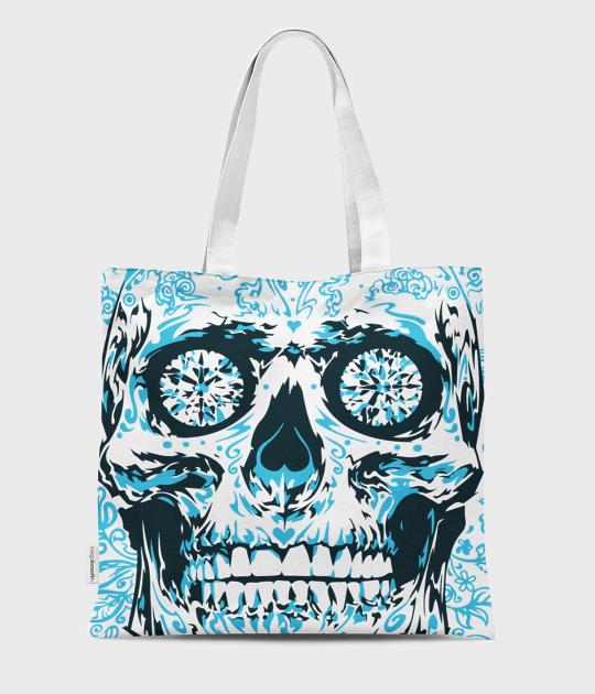 Torba full print Blue skull 2