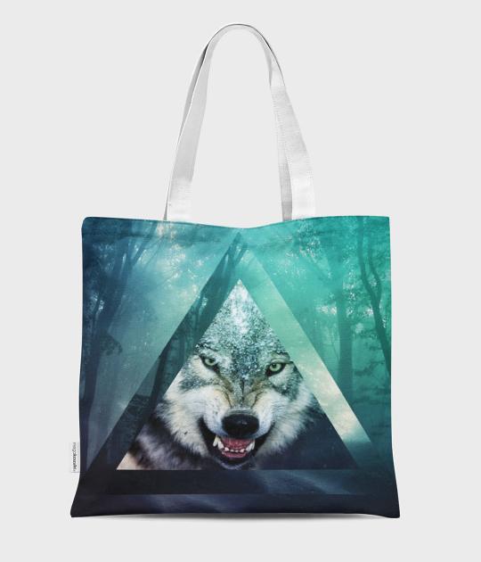 Torba full print Hipster wolf