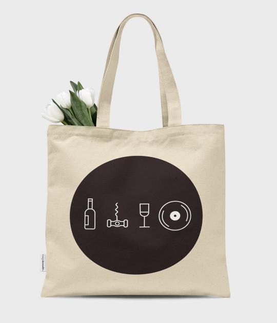 Torba bawełniana premium Wino