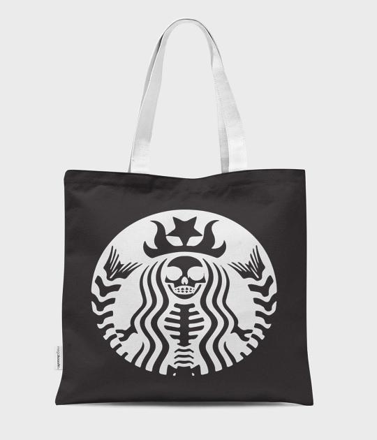 Torba full print Coffee mermaid