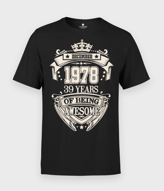 Koszulka męska Urodziny + Twój miesiąc, rok, wiek