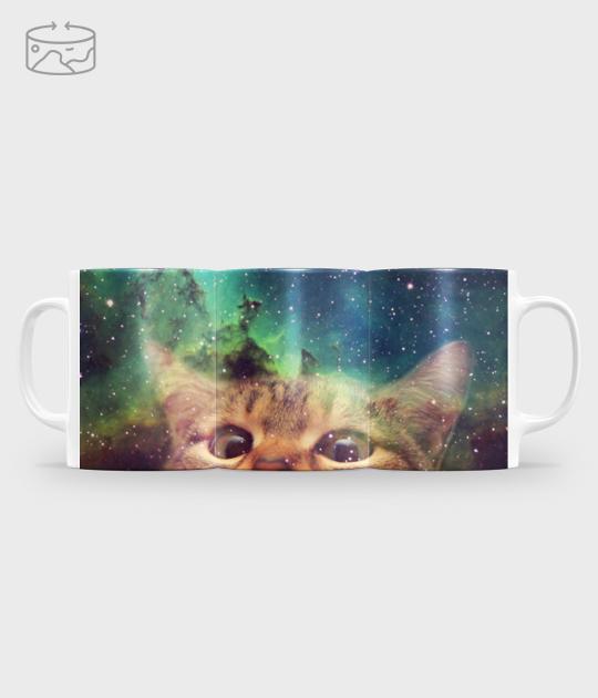 Kubek full print (panorama) Galaxy cat