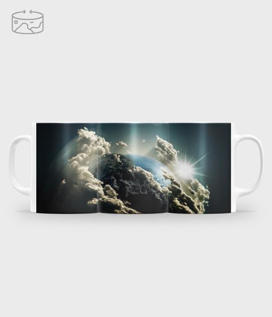 Kubek full print (panorama) Ziemia