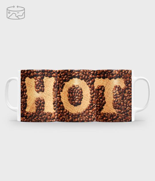 Kubek full print (panorama) Hot coffee