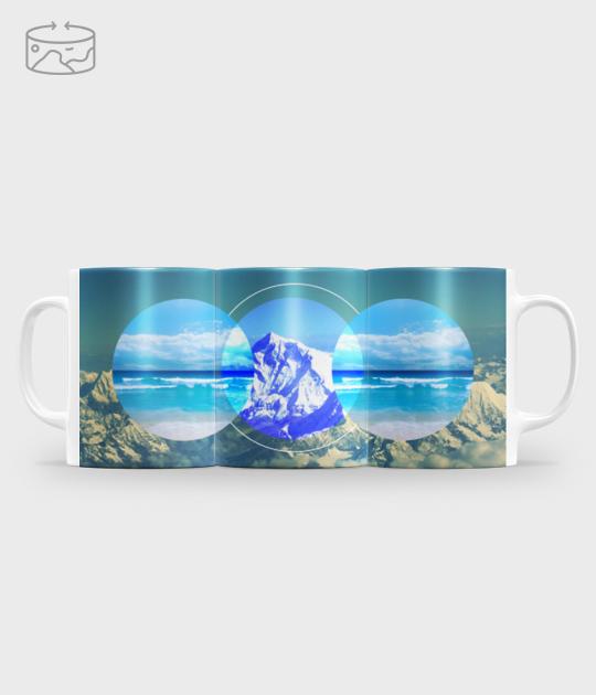 Kubek full print (panorama) Morze i góry