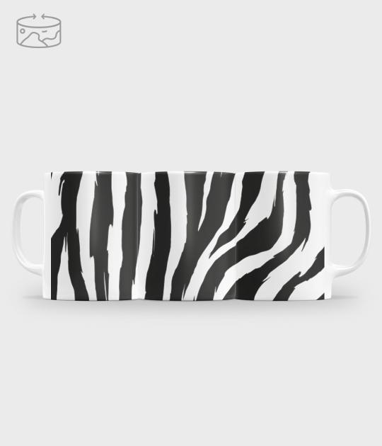 Kubek full print (panorama) Paski zebry