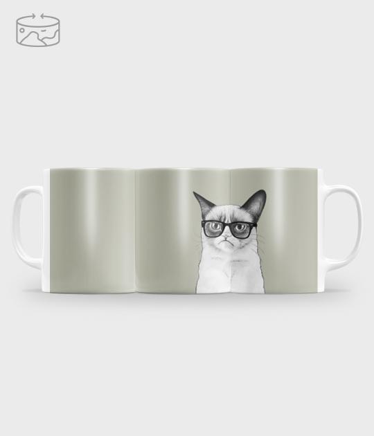Kubek full print (panorama) Grumpy mug