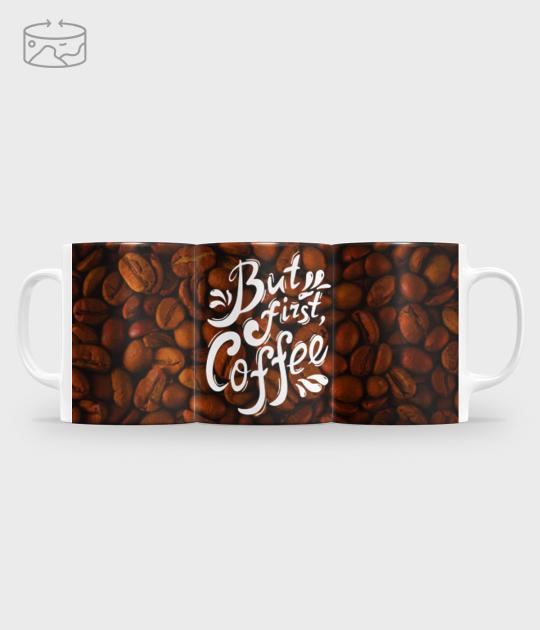 Kubek full print (panorama) But first coffee