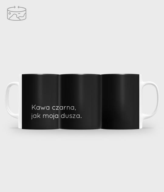 Kubek full print (panorama) Czarna kawa