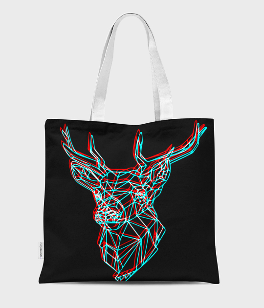 Torba full print Geometric Deer 3
