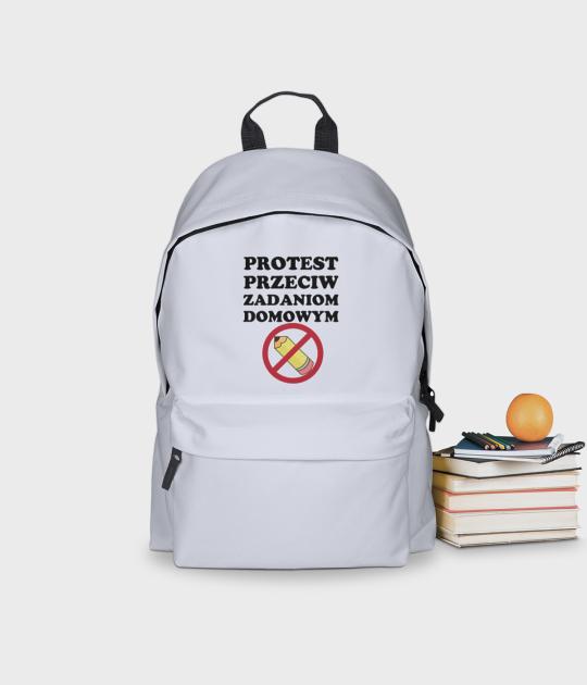 Plecak szkolny Protest Przeciwko Zadaniom Domowym