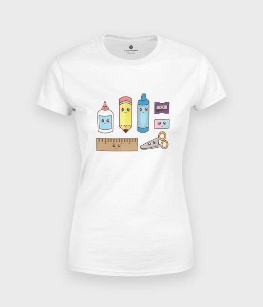 Koszulka damska Urocze Przybory Szkolne