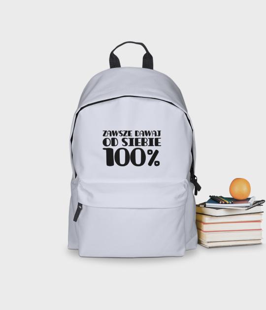 Plecak szkolny Zawsze dawaj 100%