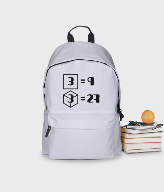 Plecak szkolny Trzy do kwadratu i sześcianu