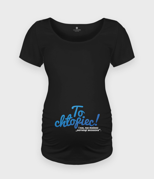 Koszulka damska ciążowa - Oversize To chłopiec