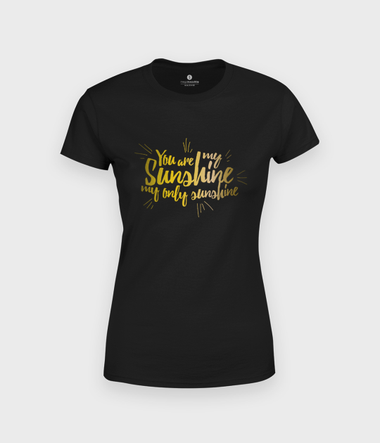 Koszulka damska Sunshine - złoty nadruk