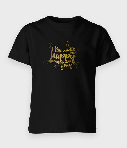 Koszulka dziecięca Sunshine 2 - złoty nadruk