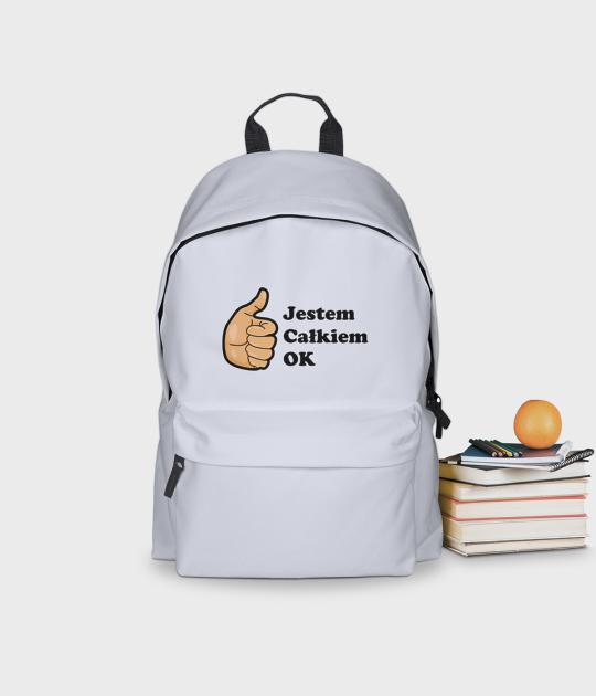 Plecak szkolny Jestem całkiem ok