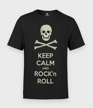 Koszulka Keep Calm and Rock n Roll - Z napisami
