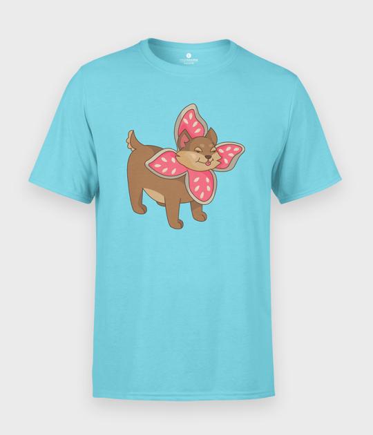Koszulka męska Pies w przebraniu Demogorgona
