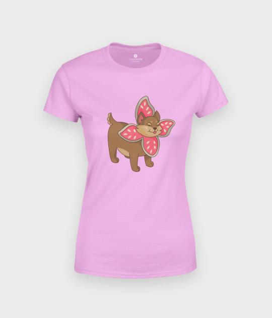 Koszulka damska Uroczy Pies w przebraniu Demogorgona
