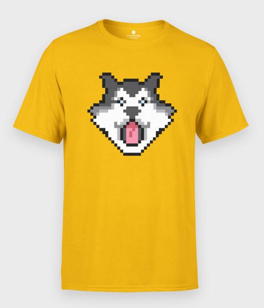 Koszulka męska Pixel Husky