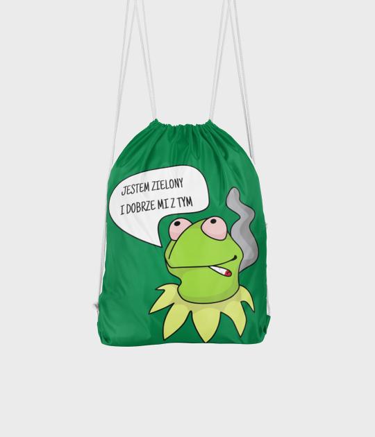 Plecak workowy Zielony Kermit