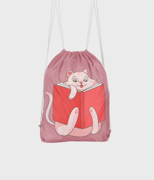 Plecak workowy Czytający Kot