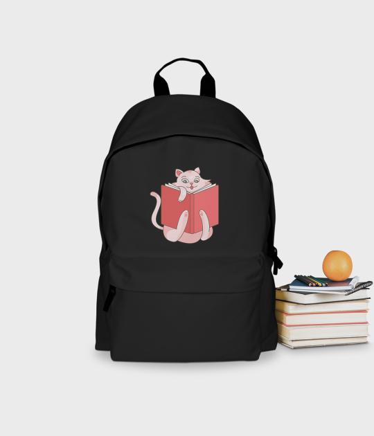 Plecak szkolny Czytający Kot