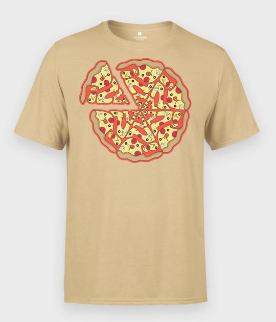 Koszulka męska Pizza Text