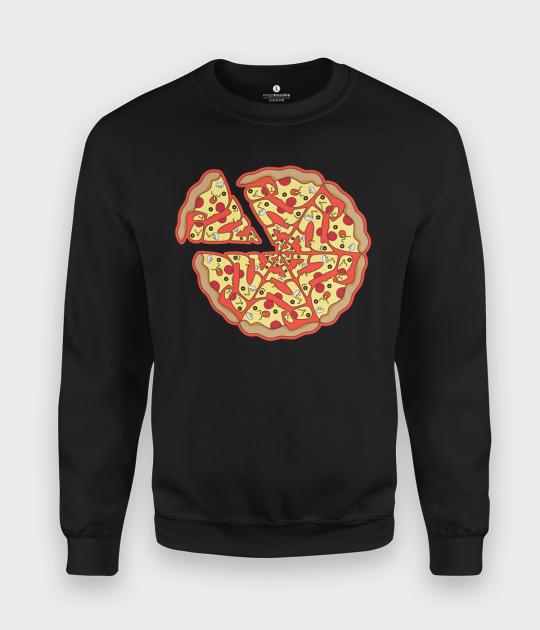 Bluza klasyczna Pizza Text