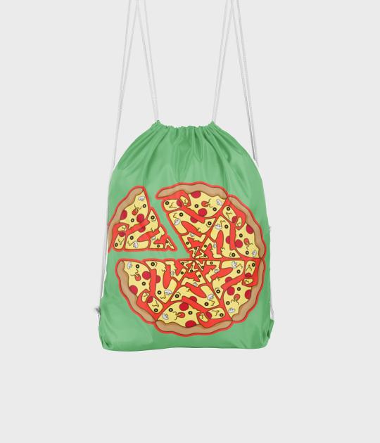 Plecak workowy Pizza Text