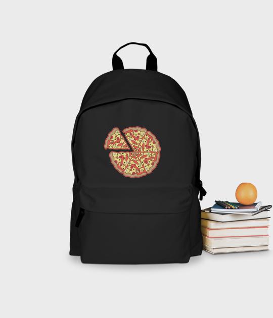 Plecak szkolny Pizza Text