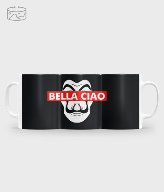 Kubek full print (panorama) Bella Ciao Dali