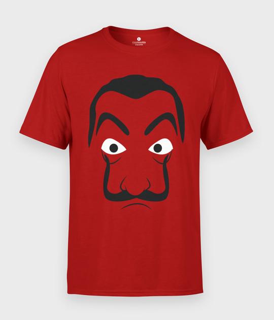 Koszulka męska Dom z Papieru Minimalistyczna Maska